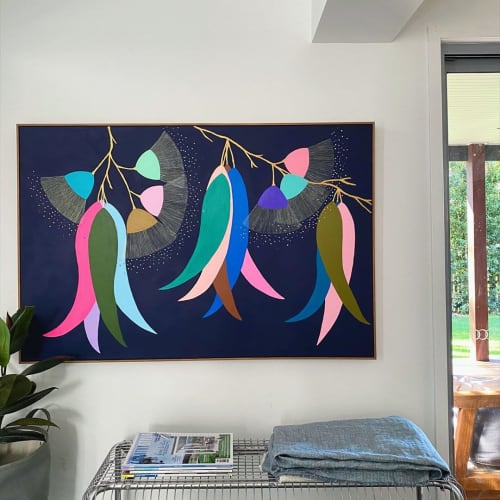 Paintings by Hayley Wills seen at Private Residence, Brisbane - Gum Blossom