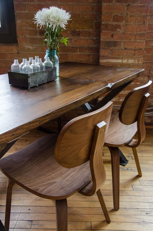 Tables by Urban Wood Goods seen at Private Residence, Chicago - Modern X Dining table made of reclaimed wood