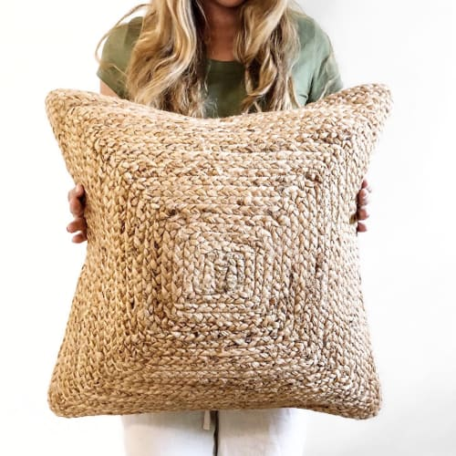 Pillows by Coastal Boho Studio seen at Destin, Destin - Jute Koko Lumbar Pillow