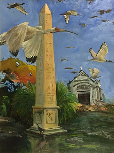 Paintings by J William Hill Art seen at 1272 Murphy Ave SW, Atlanta - Flight of Isis