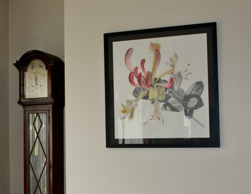 Art & Wall Decor by Joanne Linsdell seen at Private Residence, Melbourne - Honeysuckle drawing,