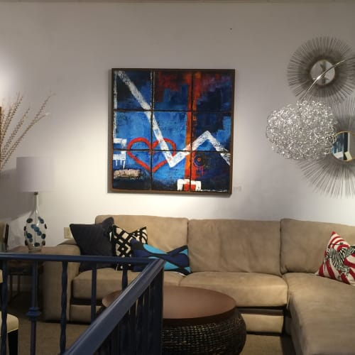 Paintings by Tricia Skoglund Artist seen at Private Residence, Temecula - Reflections In The Night