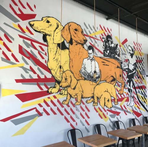Murals by Minucha seen at Galpón Atacama CoWorking, EWX - Indoor Mural