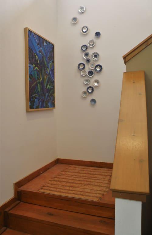 Sculptures by Debra Steidel seen at Steidel Fine Art, Wimberley - Aqua Lilium   Blue, Silver, Light blue, Snow white