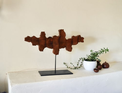 Sculptures by Lutz Hornischer - Sculptures & Wood Art seen at Private Residence, Berkeley - Time Will Tell - Table-top Sculpture