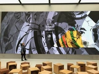 Murals by Lisa Cirenza seen at Apple Union Square, San Francisco - Indoor Mural