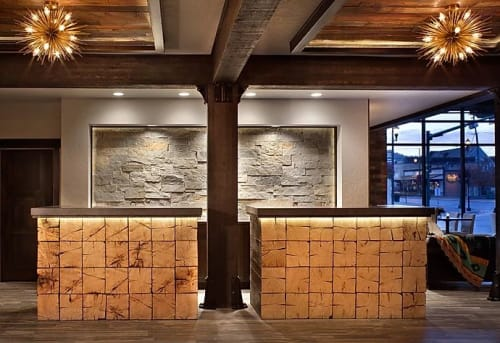 Architecture by Rocky Mountain Builders seen at The Firebrand Hotel, Whitefish - Interior Builder