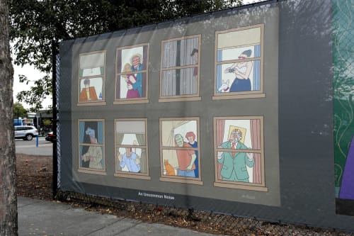 Street Murals by Alan Rose seen at Beaverton, Beaverton - An Uncommon Noise