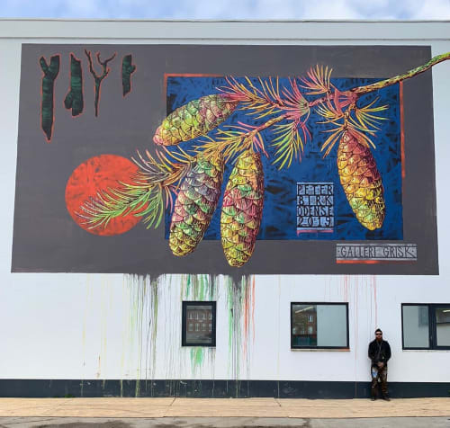 Murals by Peter Birk seen at Odense, Odense - Mural