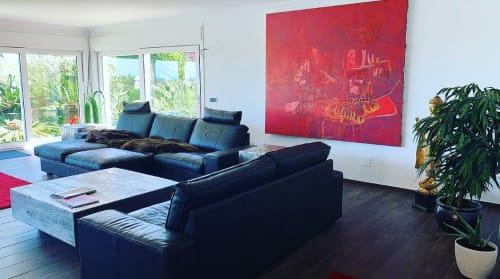 Paintings by ALEXANDER HOELLER - The Emotion Artist seen at Private Residence, Madrid - CROCODILE PLANT