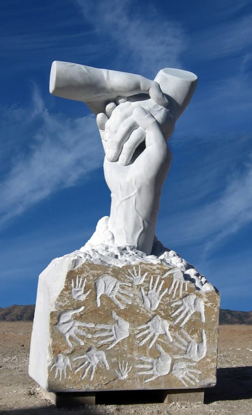Sculptures by John Fisher Sculptures seen at Yucca Valley, Yucca Valley - Together We Can