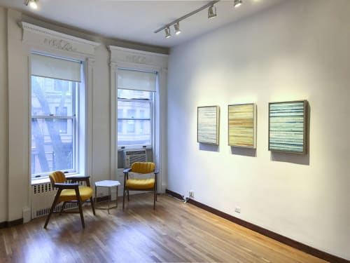 Paintings by Susan Eley Fine Art seen at Susan Eley Fine Art, New York - Paper Trail Installation