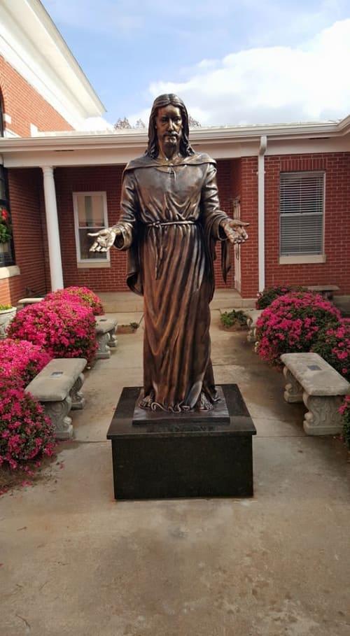 Public Sculptures by Ben Watts Sculpture seen at First Baptist Church, Raleigh - Resurrection