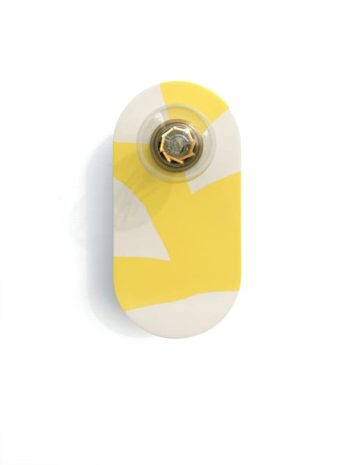 Sconces by What The Mood seen at Private Residence, Bristol - Tutti Frutti - Lemon | Yellow & White Brass Wall Light