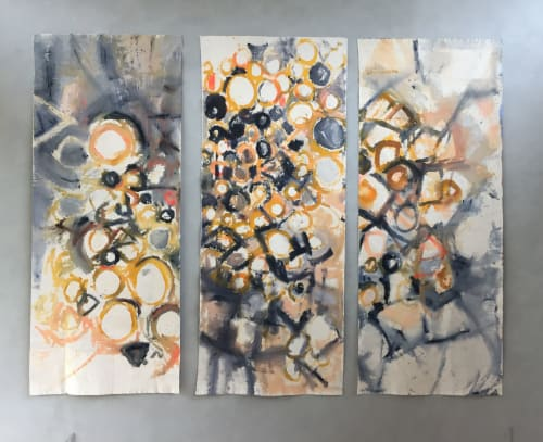 Paintings by Caroline Wright seen at Caroline Wright Art, Austin - Frieze