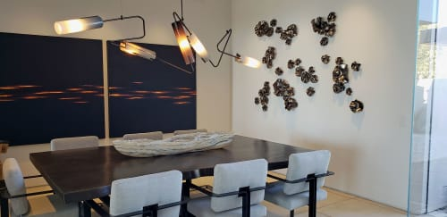 Art & Wall Decor by Ron Dier Design seen at Private Residence, Orange - Nasturtium wall