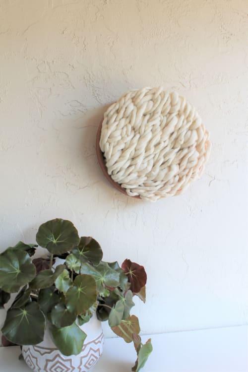 Komondor - Terracotta & Fiber Wall Sculpture   Wall Hangings by Keyaiira   leather + fiber   Reveal Hair Studio in Santa Rosa