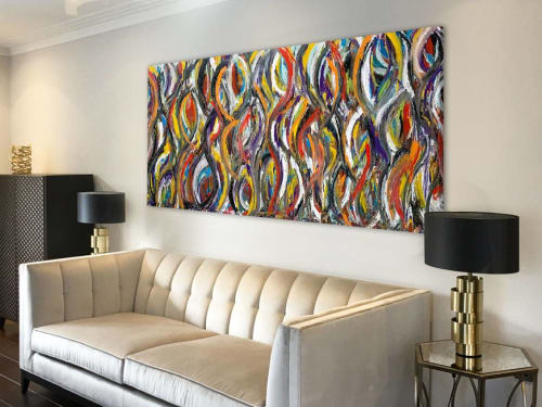 Paintings by Swarez Art seen at Private Residence, Stroud - Run Like The Wind