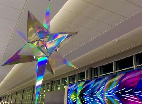 Art & Wall Decor by Philip Noyed seen at Minneapolis–Saint Paul International Airport (MSP) - Aurora Borealis and L'Etoile du Nord