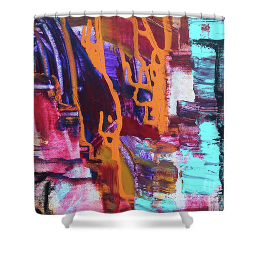 Apparel & Accessories by Lara Lenhoff Art seen at Fine Art America Print - Divided- Shower Curtain