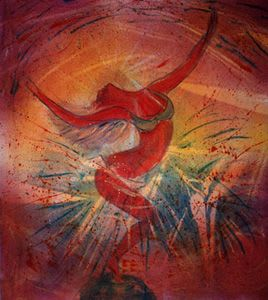 Paintings by Janet Morgan seen at Athens, GA, Athens - The Goddess Dances the Heavens (Homage to Jehan) -