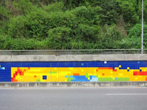 Public Mosaics by Patricia Van Dalen seen at Caracas, Venezuela, Caracas - Jardin Luminico