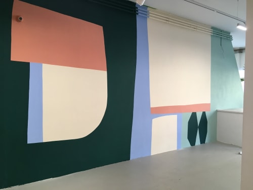 Murals by Maaike Canne seen at Private Residence, Amsterdam - Mural | Hutspot Amsterdam