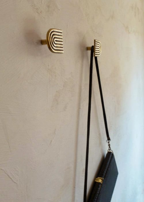 Hardware by Mi&Gei Hardware Design Studio - BRASS DECORATIVE WALL HOOK, Bathroom towel hanger F09