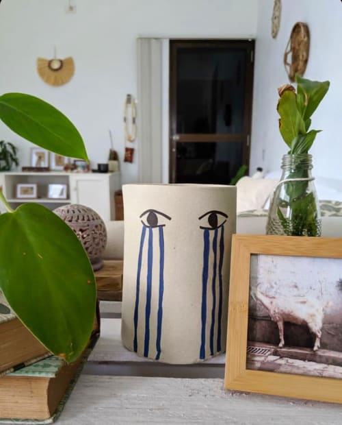 Vases & Vessels by Jamila Goods - Jess Miller seen at Private Residence - Crybaby Ceramic Planter