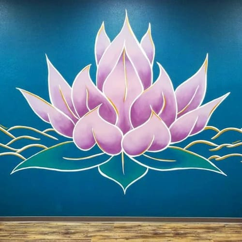 Murals by Madison Ruff seen at Havre, Havre - Lotus