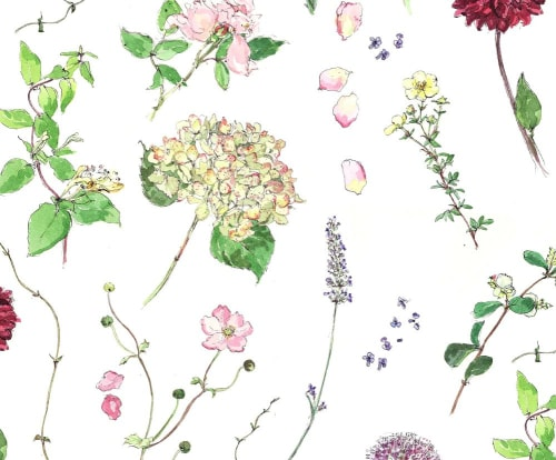 Wall Treatments by Madeleine Floyd seen at Private Residence, London, London - Floral Work