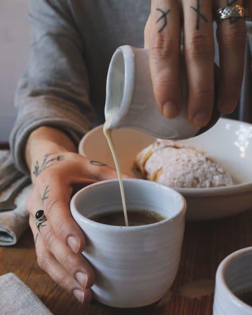 Tableware by Potters Thumb seen at FREA, Berlin - Crockery