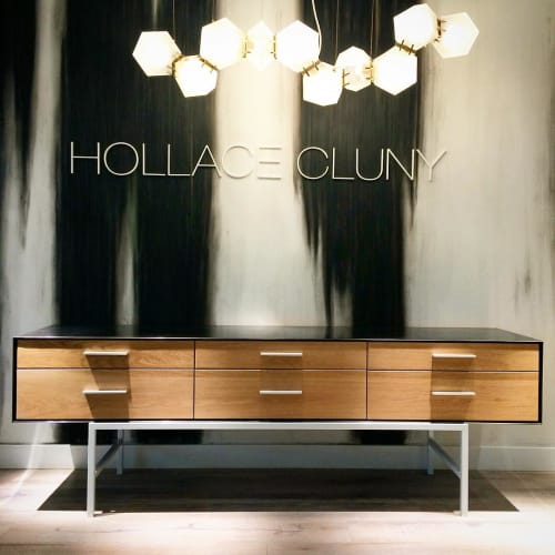 Furniture by Miles & May Furniture Works seen at Hollace Cluny, Toronto - A-line server
