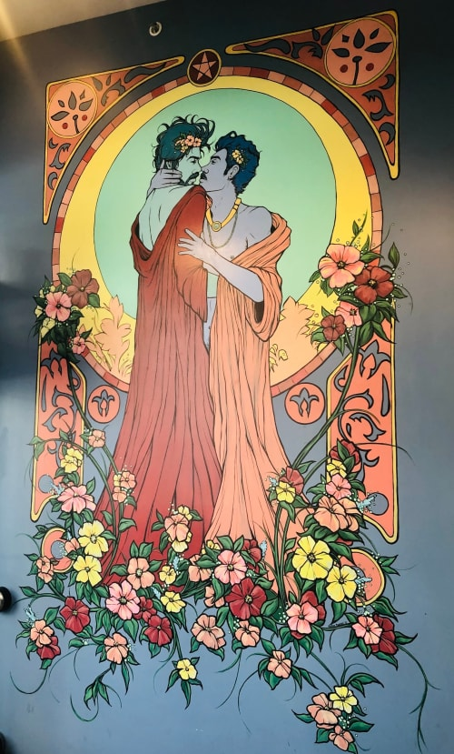 Murals by Nathan Rapport seen at Pentacle Coffee, San Francisco - Queer Mural