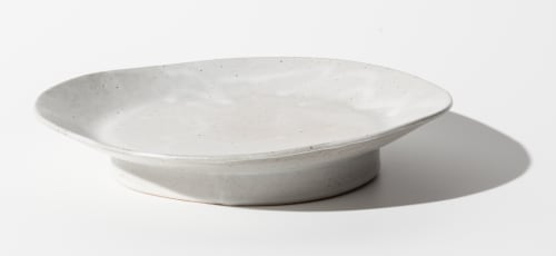 Ceramic Plates by Len Carella seen at Creator's Studio, San Francisco - Riley - Satin White