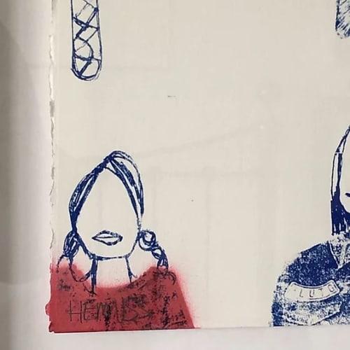 Paintings by Adam Hemuss seen at Private Residence, York - Girls Girls Girls