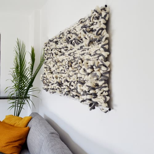 Wall Hangings by Broadwick Fibers at Private Residence, Denver - Fiber Wall Hanging