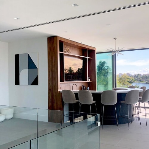 Murals by Chad Kouri seen at Private Residence, Boca Raton - A Sliding Scale from Black to White