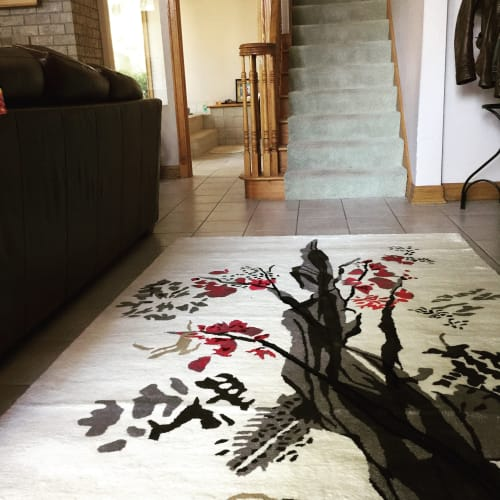 Rugs by Jan Sullivan Fowler at Private Residence, South Milwaukee - Wanabi(Cherry Blossom time)