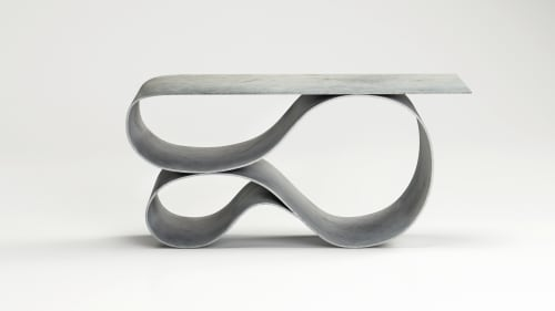 Tables by Neal Aronowitz - Whorl Console in Concrete Canvas
