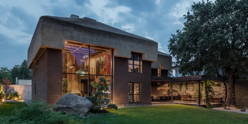 Architecture by Sergey Makhno Architects seen at Private Residence, Kozyn - Shkrub*. Thatched House