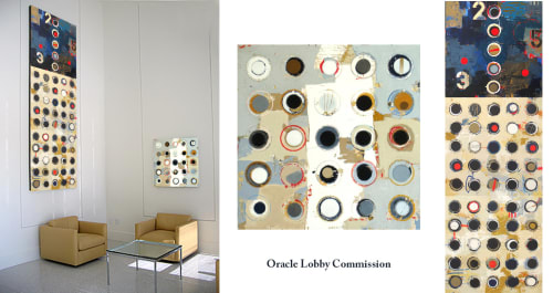 Paintings by Jylian Gustlin at Oracle, Palo Alto - Oracle Lobby