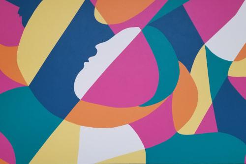 Murals by Liz Flores seen at Hawthorn Mall, Vernon Hills - Hawthorn Mall Mural