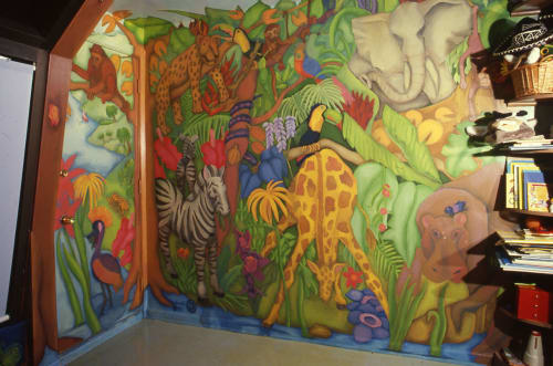 Murals by Beth Shadur seen at Private Residence, Chicago - Mural for children's bedroom, private home