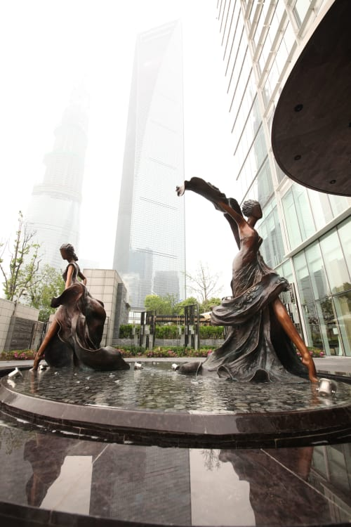 Public Sculptures by Wu Ching Ju seen at Four Seasons Hotel, Pudong Xinqu - Beauty of Seasons