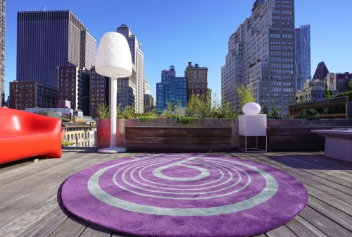 Rugs by Lucy Tupu Studio seen at Private Residence, New York - Tribeca Penthouse- Outdoor Space