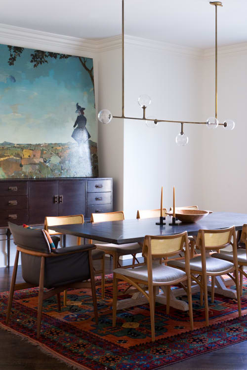 Pendants by Lumifer by Javier Robles seen at Private Residence, Kansas City - Helix Horizontal Pendant