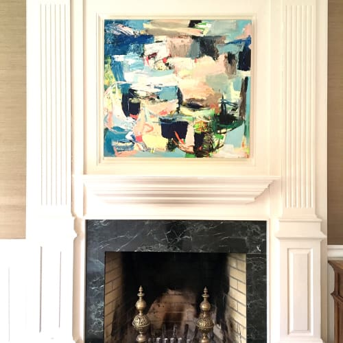 Paintings by Galen Cheney seen at Private Residence, New Canaan - Abstract Painting