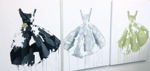 Paintings by Roxanne Rossi seen at Creator's Studio, Tucson - #3 Dress Paintings