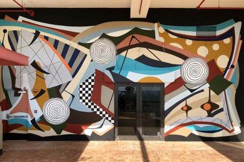 "Murals by Amauri Torezan seen at The Dalmar, Fort Lauderdale, a Tribute Portfolio Hotel, Fort Lauderdale - ""Maverick"""